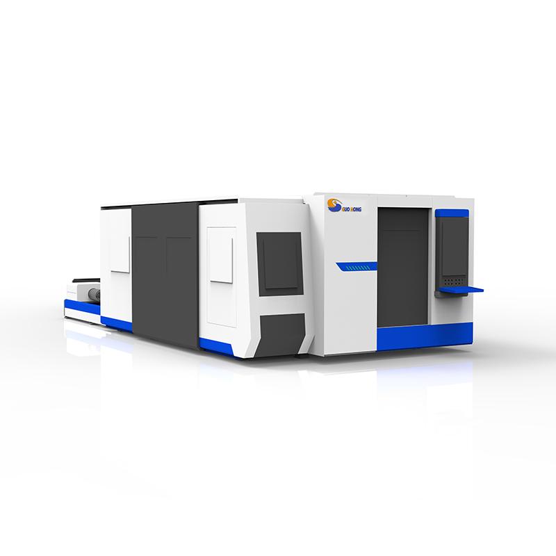 China Square Tube Cutting Machine Factories - Full Protection Metal Sheet and Tube Fiber Laser Cutting Machine – Guo Hong