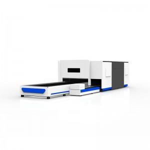 Full Protection Metal Sheet and Tube Fiber Laser Cutting Machine